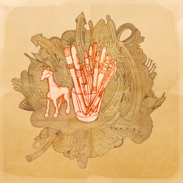 seveusmz illustration bureau crayons septembre 09